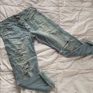 Abercrombie Distressed Boyfriend Jeans